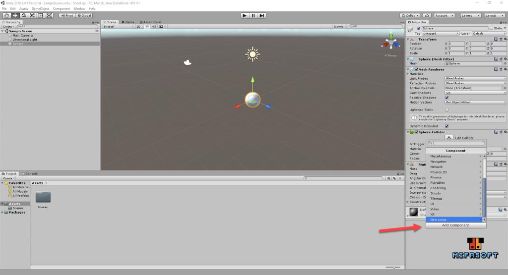 Unity3D ตอนที่ 5 เขียน script กดปุ่มให้วัตถุเคลื่อนที่
